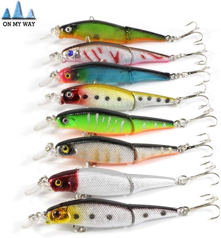 8pcs lot Minnow Fishing Lure 2 Segment 9.2cm 6g Swimbait Crankbait Hard Fishing Bait with Hook Isca Artificial Lures