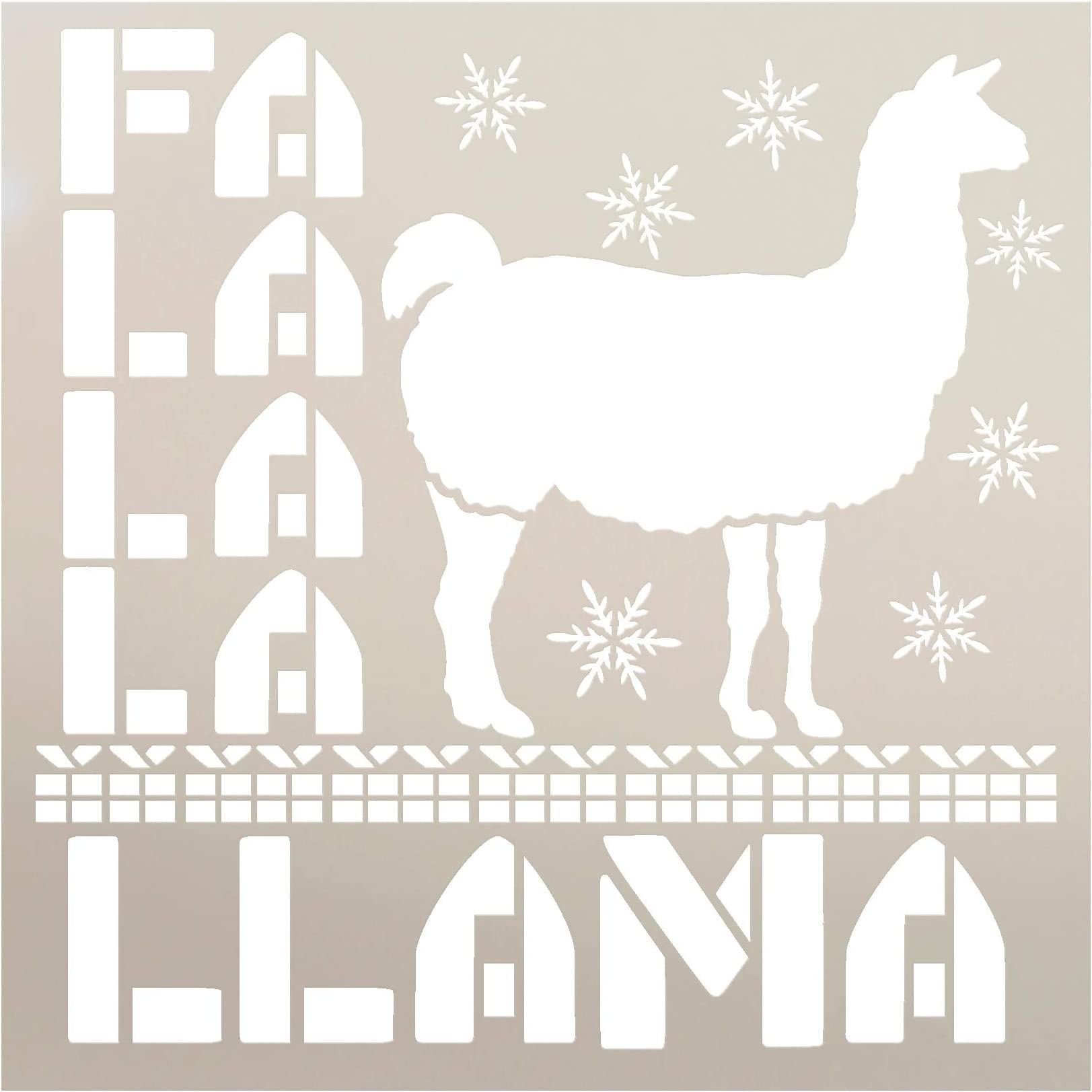 """FA La Llama Stencil by StudioR12 
