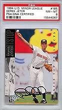 Derek Jeter Autographed 1994 Upper Deck Rookie Card #185 New York Yankees Rookie Era Signature Mint 8 PSA/DNA #15544067