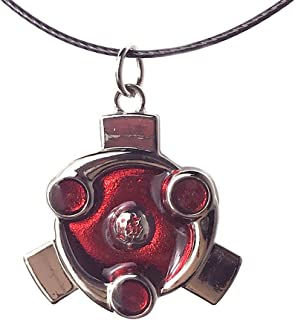 Brdwn Unisex Cosplay Amaterasu Sharingan Red Cloud Necklace