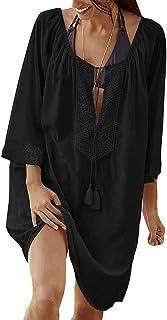 Bestme Women's Rayon Tops Plus Size Bikini Tunic Cover Ups for Swimwear Beach Dress