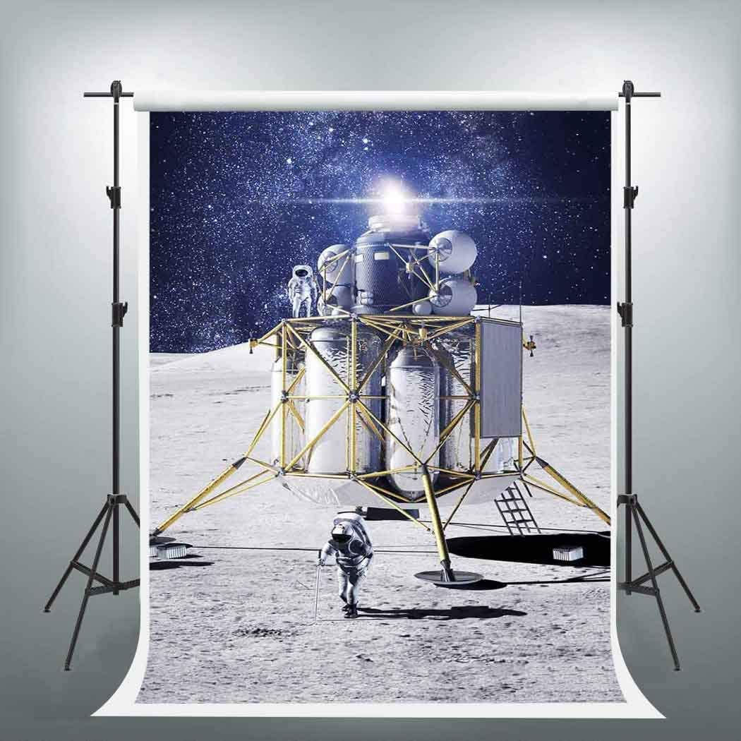 EARVO 5x7ft Moon Landing Photogra Universe Backdrop Safety and trust Weekly update Capsule