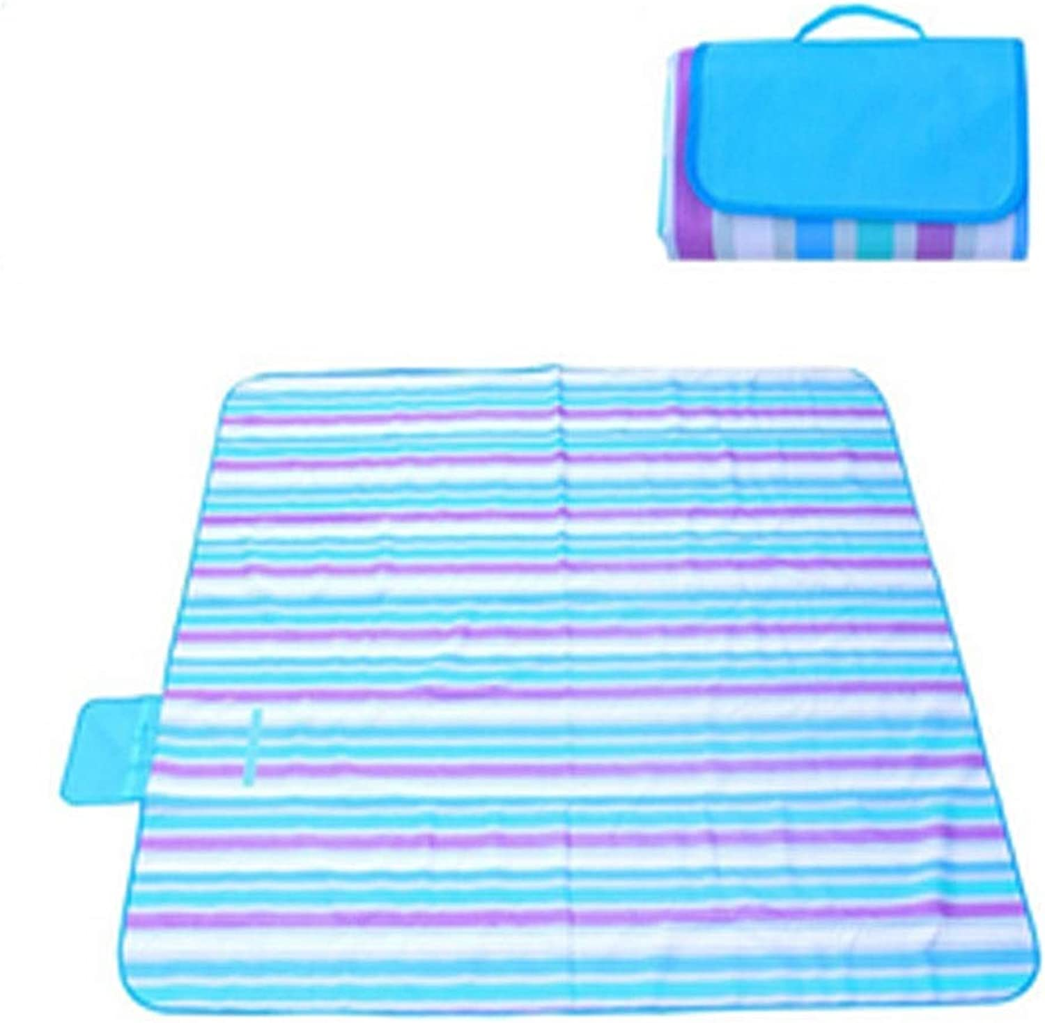 Camping Mat, Outdoor Waterproof Beach Mat, Picnic Mat, 200  145 cm, Suitable for Outdoor Travel, Multicolor Optional (Send Storage Bag) (color   A06, Size   200  145cm)