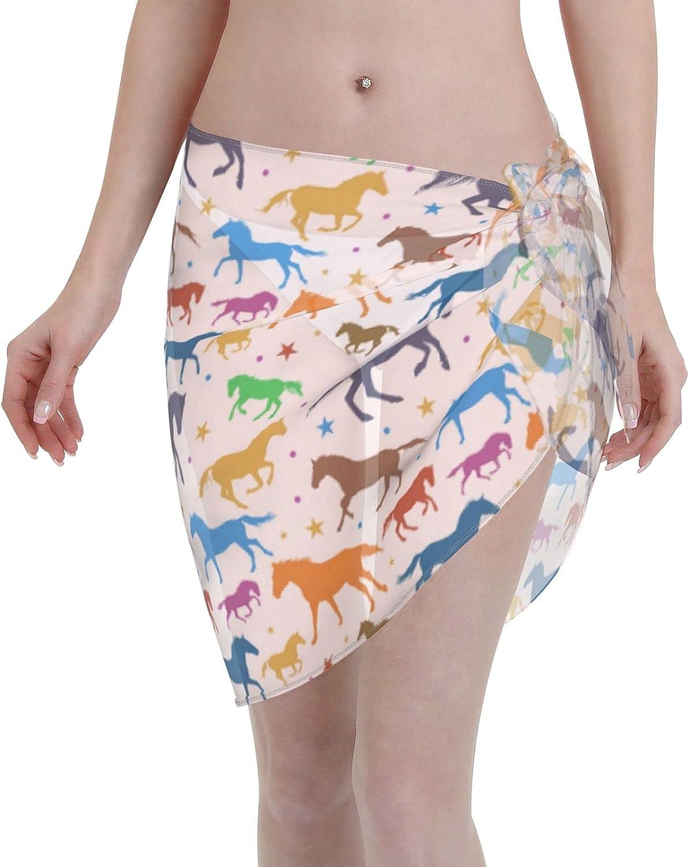 Toucan Pattern Women Swimsuit Cover Ups Fashion Sarong Beach Wrap Short Skirt Chiffon Scarf