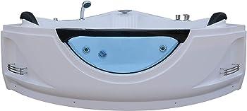 Empava EMPV-JT319 59'' Acrylic Whirlpool Corner Tub