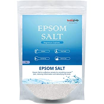 Healthgenie Epsom Salt for Relaxation and Pain Relief - 1kg