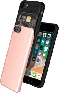 iPhone 8 Case, iPhone 7 Case, Mercury [Sliding Card Holder] Protective Dual Layer Bumper [TPU+PC] Cover with Card Slot Wallet for iPhone 7 (2016)/iPhone 8 (2017) (Rose Gold) IP8-SKY-RGLD