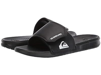 Quiksilver Bright Coast Adjustable Slides (Black/White/Black) Men