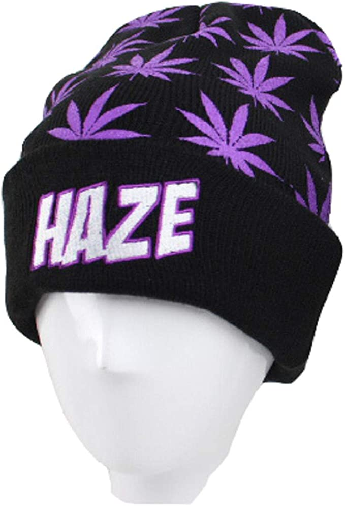 Mary Jane  Marijuana Hat  420 style  Womens Beanies  Mens Winter Hats  Weed Apparal  Marijuana Leaf  Pot Hat  Green and Black Hat