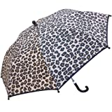 RainStoppers Girl's Heart Stripe Print Umbrella with Ruffle, 34-Inch