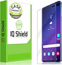 IQ Shield Screen Protector Compatible with Galaxy S10 Plus (S10+ 6.4 inch)(2-Pack)(Case Friendly) LiquidSkin Anti-Bubble Clear Film (NOT Compatible with Verizon S10 5G 6.7)(Works with Fingerprint ID)
