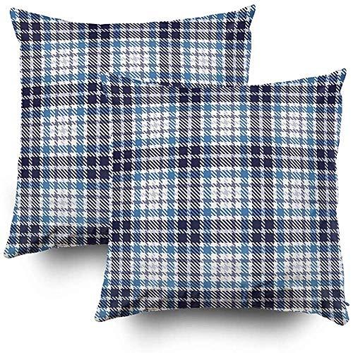 Fundas de almohada de sofá, funda de almohada cuadrada, fundas de cojín Patrón de vector transparente de tartán Conjuntos de decoración de sofá para el hogar Funda de almohada de 2 piezas