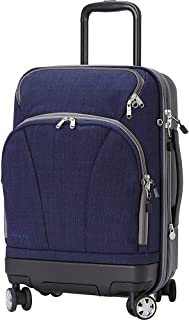 eBags TLS Hybrid (Hardside/Softside) Spinner Expandable Luggage - 22-inch - Carry-On - (Brushed Indigo)