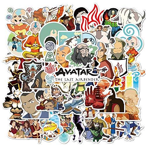 AvatarThe Las Airbender Avatar - Juego de 50 pegatinas para monopatín y guitarra