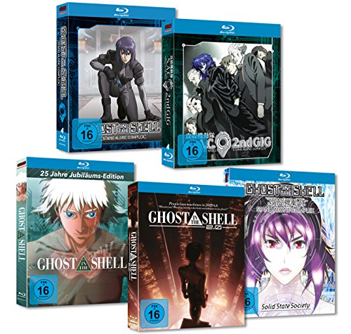Ghost in the Shell - Stand Alone Complex + Movies (Movie, 2.0, Solid State Society) MEGA Bundle [Blu-ray]