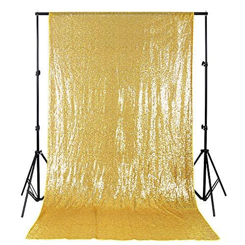 B-COOL 4ftx8ft Sequin Backdrop Gold Photography Backdrop Wedding Shimmer Fabric Backdrops Curtain backdrops Photography Background Sequin Fabric Backdrop