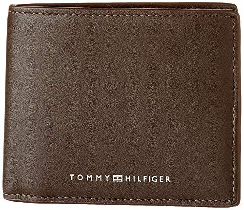 Tommy Hilfiger TH Metro, Accesorio Billetera de Viaje para Hombre, Testa Di Moro, Talla única