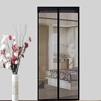 Acc/ès Facile for Le Salon//Porte Patio Moustiquaire Porte Magn/étique 180x215cm Rideau Moustiquaire /à Aimant/ée Automatiquement ferm/é Pliable