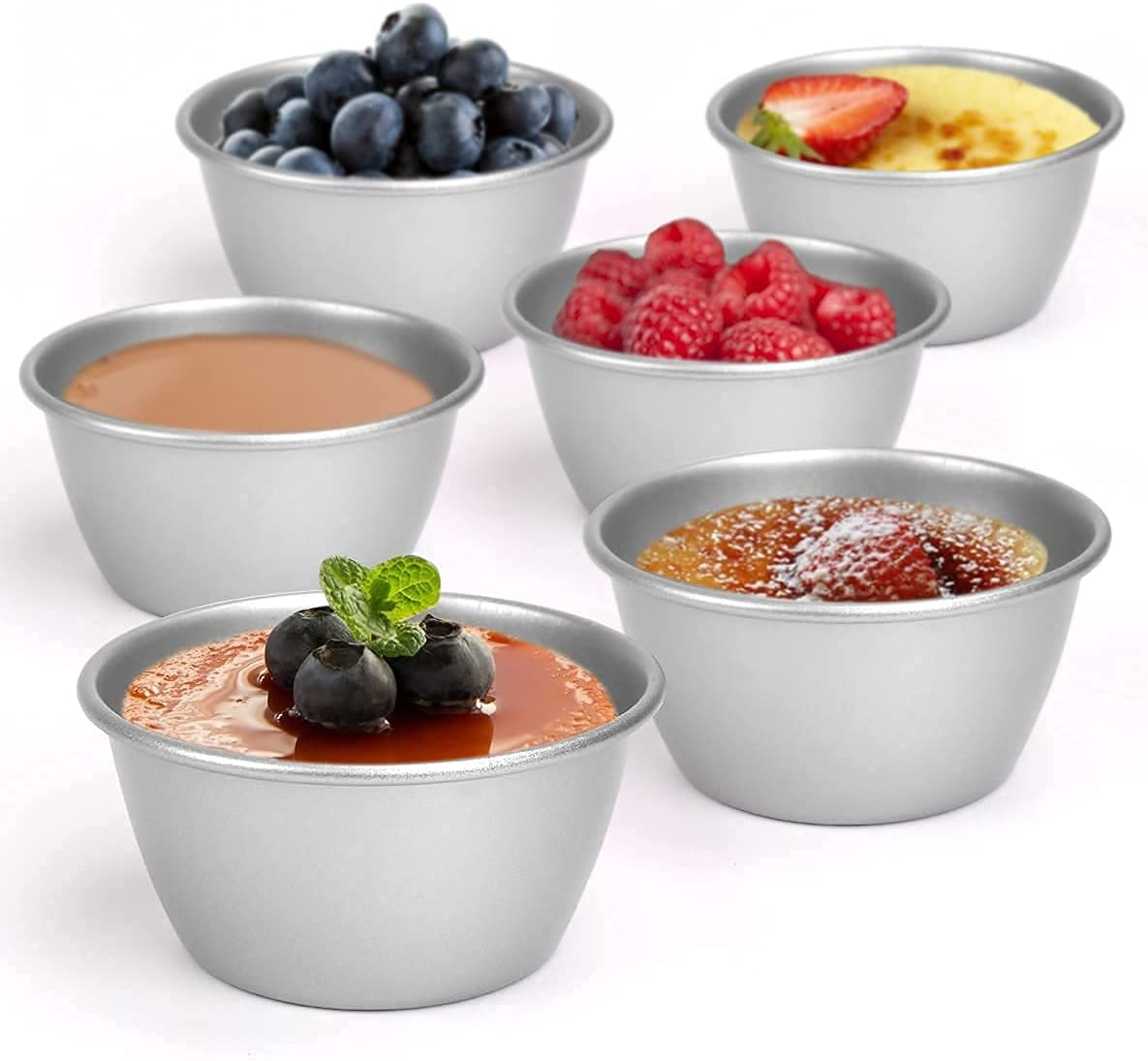 Sales of SALE items from new works DricRoda Individual Muffin Tins 5.2oz Puddin Nonstick of Pack 35% OFF 6