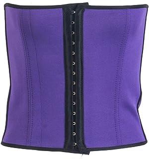 مشد خصر صلب لشد الجسم من تحت الصدر للخصر، ملابس داخلية رفيعة وأنيقة للنساء موديل YJXUSHYQ (اللون: ارجواني، المقاس: XL)