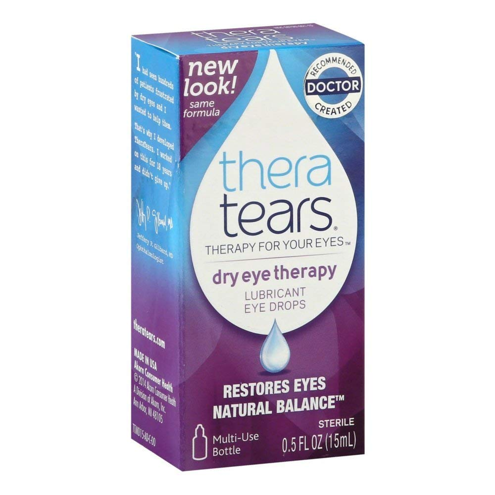 Thera Tears Lubricant Eye Drops 3 Max 89% OFF oz Ultra-Cheap Deals 0.5 Pack of