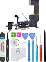 OmniRepairs Charging USB Dock Port Flex Cable Replacement with Microphone, Headphone Audio Jack Assembly Compatible for iP...