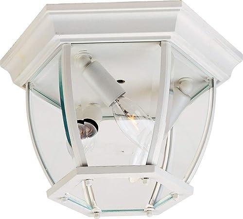 Maxim 1029WT, Maxim Outdoor Flush Mount, 3-Light 180 Total Watts, White