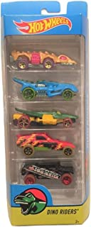 Hot Wheels 2017 Dino Riders 5-Pack ~ Fangster, T-Rextroyer, Croc Rod, Enforcer, Dino Hunter Humvee