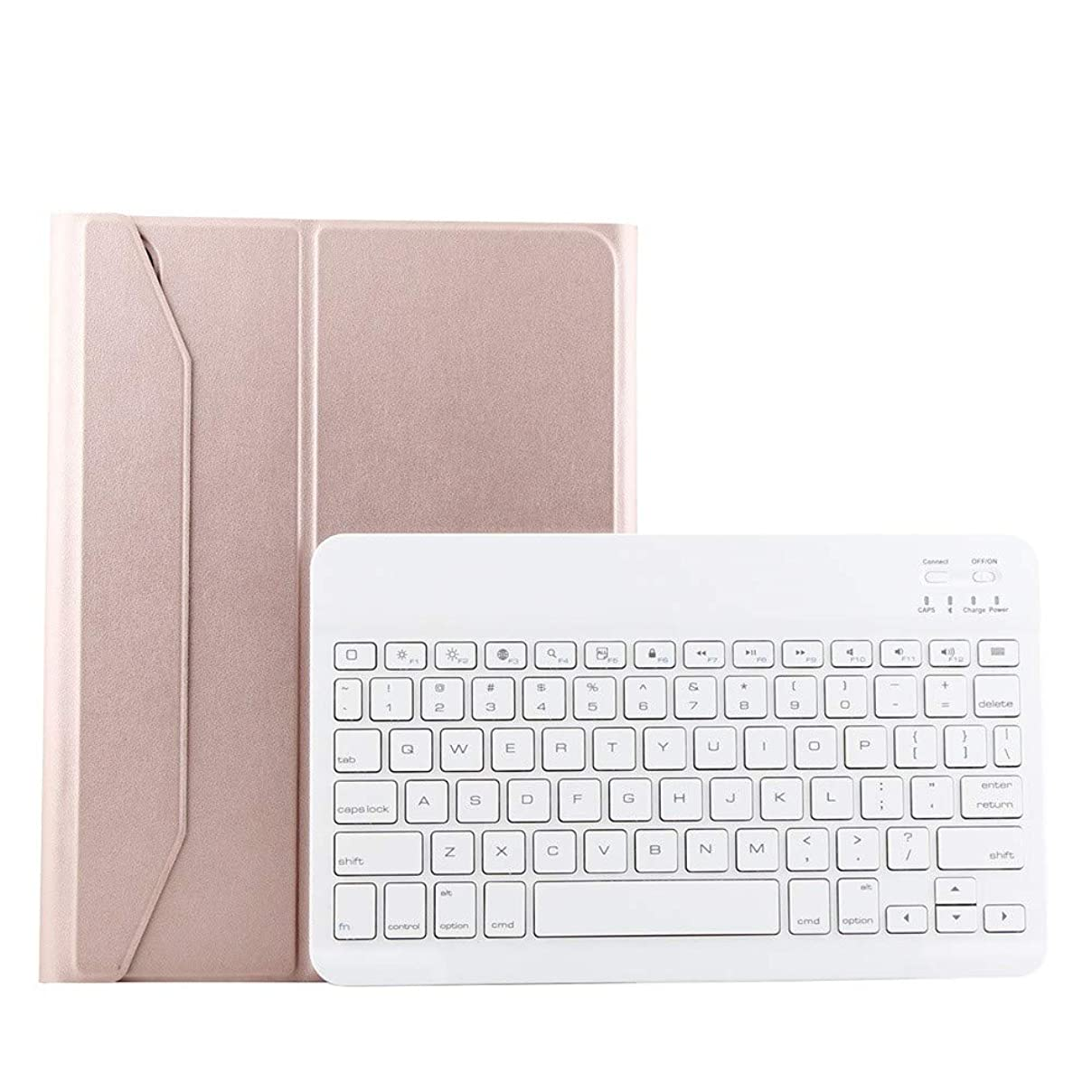 Amaping Leather Stand Case Cover+Detachable Wireless Bluetooth Keyboard for iPad Pro 11 inch 2018 (Rose Gold) et78398943405