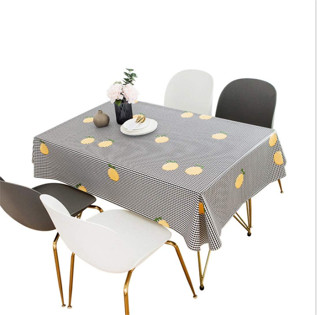 cubierta de mesa resistente al aceite resistente a las manchas 140 x 140 cm, azul A PUBMIND Mantel de vinilo de peso pesado rectangular
