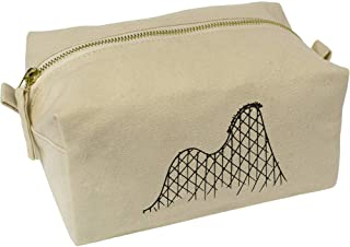 'Rollercoaster' Canvas Wash Bag / Makeup Case (CS00018398)