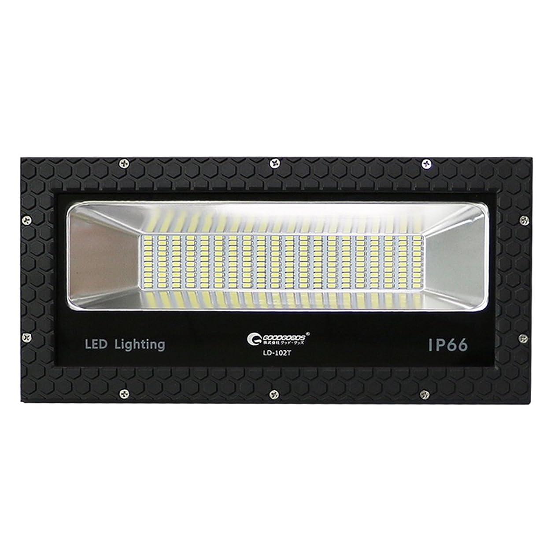 装置適合する好みGOODGOODS LED 投光器 100W 14000lm 極薄型 広角配光 作業灯 屋外 防水 室内?屋外照明 家庭電源でOK 【一年保証】 LDT-102T