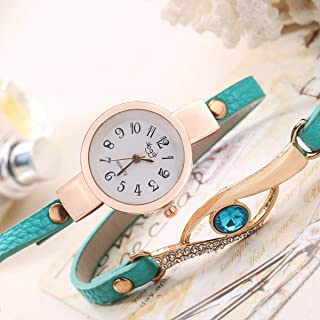 LCHIKMD Women Quartz Watches Fashion Women Bracelet Watch Leather Band Quartz Wristwatches
