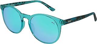 Puma Panto Sunglass For Women, Blue - Pu0164S 004, Plastic