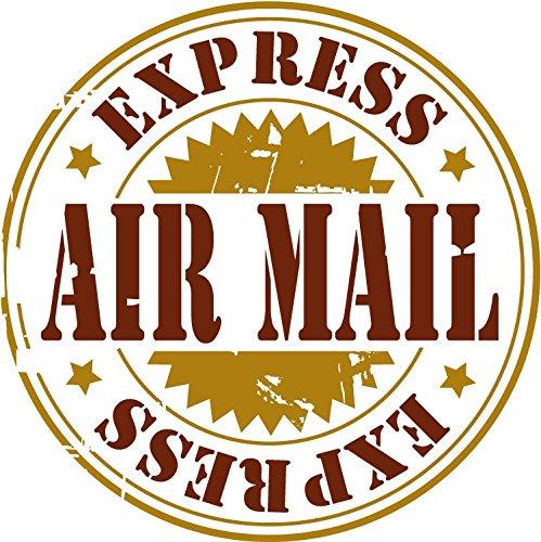 Express Airmail Grunge Rubber Stamp Hochwertigen Auto-Autoaufkleber 12 x 12 cm