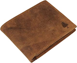 Men's Wallet, RFID Blocking, Genuine Cow Hide Leather, Bifold 7 Card Slot, Coin Space from Greenwood Leather