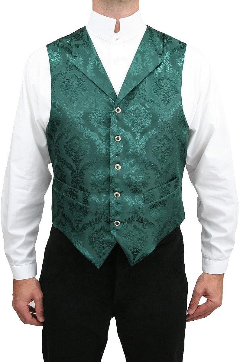 Historical Emporium Men's Satin Jacquard Dress Vest