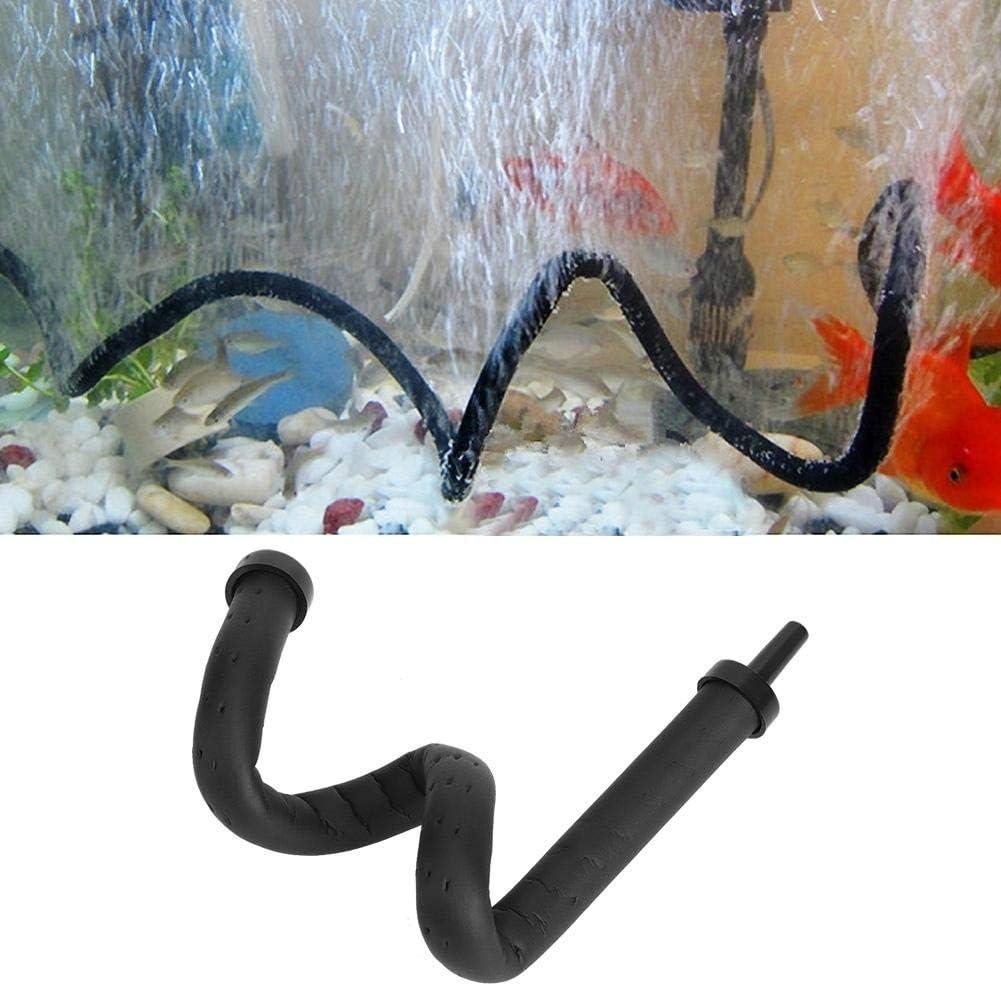Acuario Barra de burbujas de aire de plástico flexible pared difusor de aire tanque de peces piedra de liberación de burbujas de oxígeno difusor de barra (20 cm)