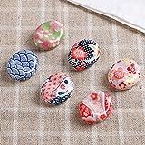 Hironarisu Pintalabios de Porcelana con 5 Juegos de Almohadas de Flores (importación de Japón)