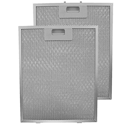 SPARES2GO Dunstabzugshaube Metall Fettfilter (Silver, 320 x 260mm, 2 stück)