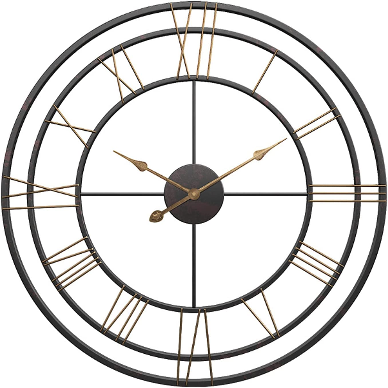 20 Inch Large Wall Clocks Roman Numeral for サービス European ご注文で当日配送 Industrial