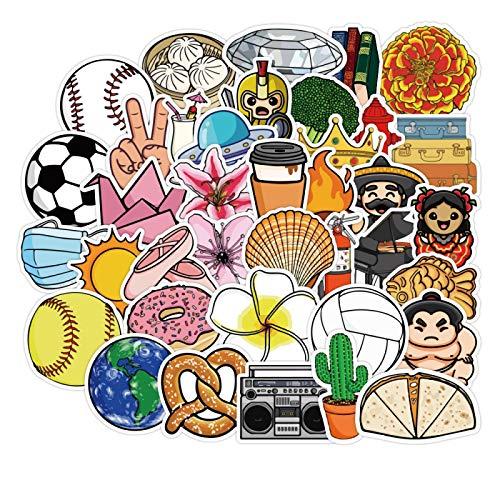Alimentos diversión niños pegatinas equipaje pegatinas carro caja decoración impermeable pegatinas casco creativo color pegatinas 100pcs