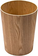 ZXHDND Wooden Trash Can, Simple Household Storage Bin, Living Room Large Trash Can, Office Paper Basket (size: 11.8 X 9.4 ...