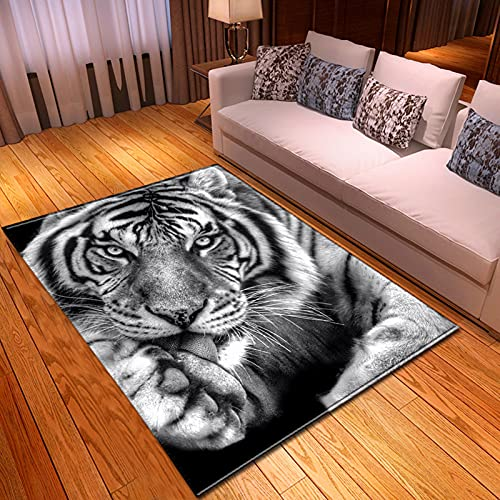 Stillshine. Alfombra 3D Tigre Cielo Estrellado Meteorito Lobo León Elefante Motivo,para Suelo de Habitación de Niños,Sala de Estar, Dormitorio, Sofá, Alfombras (Color 2,40×60 cm)