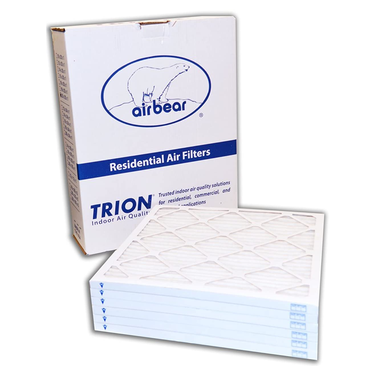 Trion Air Bear 20x25x1 MERV 8 Pleated HVAC Filter, 6 Pack