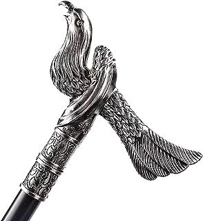XDXDO Canne de Marche Vintage, 93cm Poignée Phoenix Metal Cannes Décoratifs Gothiques Cosplay Sticks Sticks Sticks Film Pr...