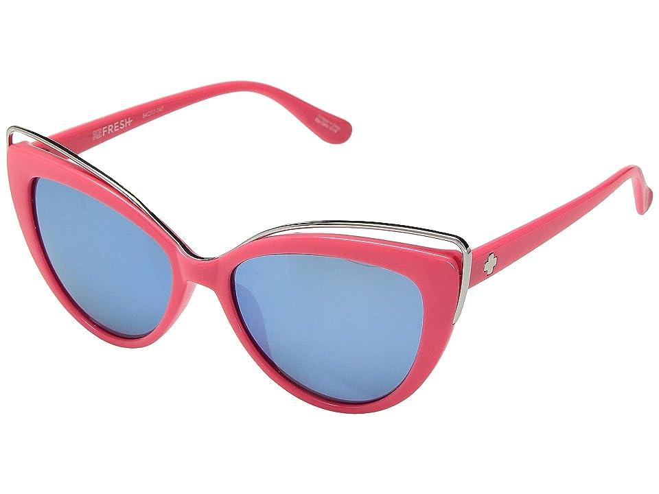 Spy Optic Julep (Coral/Gray/Light Blue Flash Mirror) Fashion Sunglasses