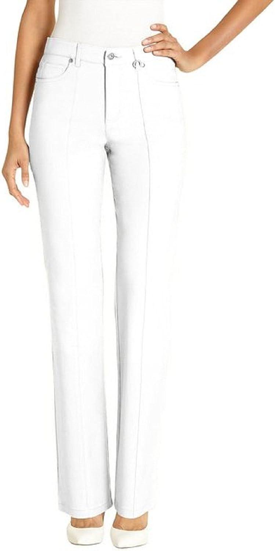 URREBEL Petite Womens Micredwill Pant (White,4)