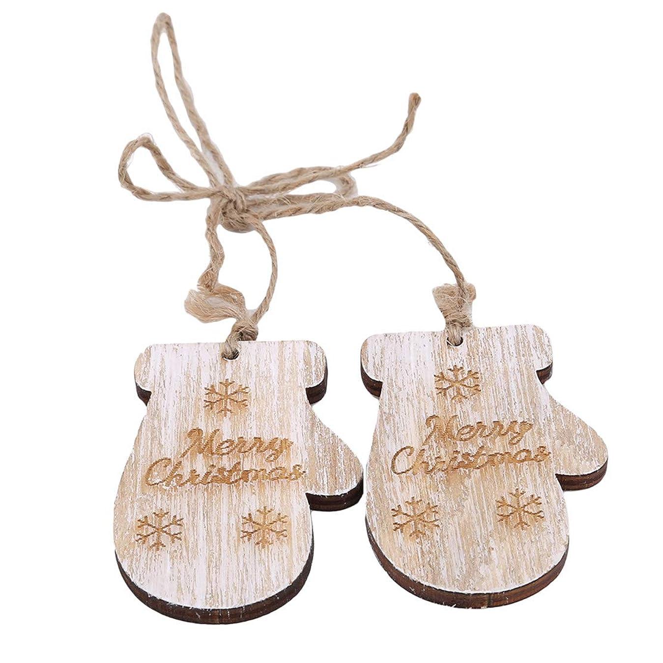 外部受け入れるわかりやすいKXYSLY 木製スキーブーツヘッドハンギングサイン クリスマスツリー木製オーナメントDIYクラフト 素敵なクリスマス吊り飾り クリスマス新年の家の装飾 (グローブ)