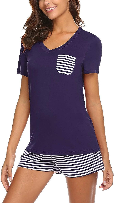 KENANCY Women's Pajamas Long Sleeve Sleepwear Soft Pj Set